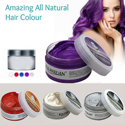 100g Disposable Colors Hair Gel Dye Cream Temporary Wax Mud Styling Modeling