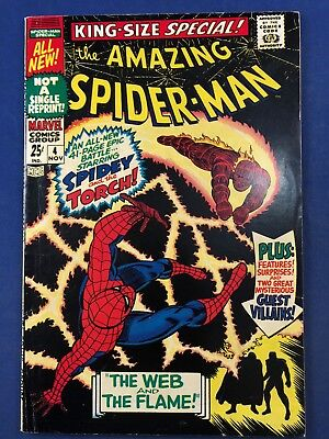 Amazing Spider-Man Annual #4 (1967 Marvel) Human Torch appearance Silver Age