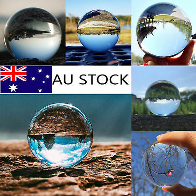 Clear Glass Crystal Ball Healing Sphere Photography Props Lensball Decor 50/60MM