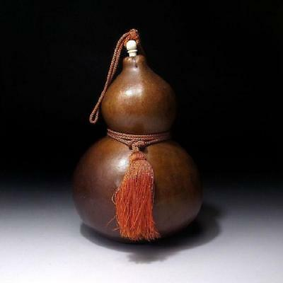 QK1: Vintage Japanese Lacquered Calabash Ornament, Hyotan, GOURD, 8.5 inches