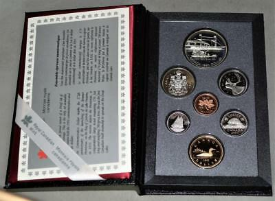 Canada 1991 Proof Set - With Frontenac 175th Anniversary Silver Dollar