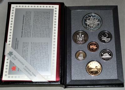 Canada 1994 Proof Set - With RCMP Northern Dog Patrol Sterling Silver Dollar