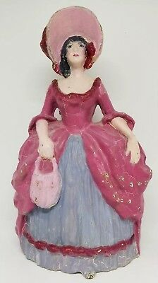 Vintage Cast Iron Victorian Large Woman Figural Doorstop