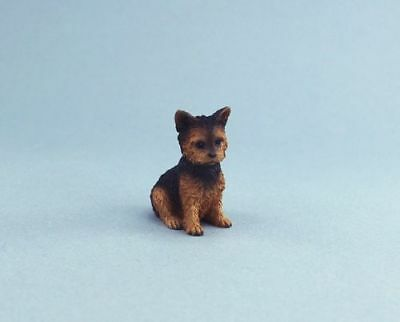 Adorable Dollhouse Miniature Yorkshire Terrier Puppy Dog #DP131