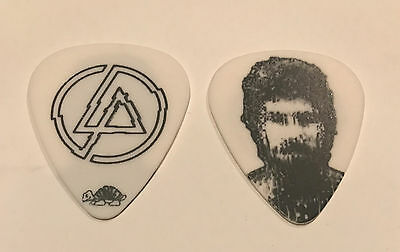 Linkin Park Guitar Pick Brad Delson 2010 A Thousand Suns Tour White Black Photo
