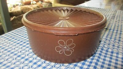 Vintage Tupperware Brown  Servalier Biscuit Canister
