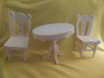 """Battarat 18"""" Our Generation/ American Girl 18"""" Doll Plastic Table & Chairs"""