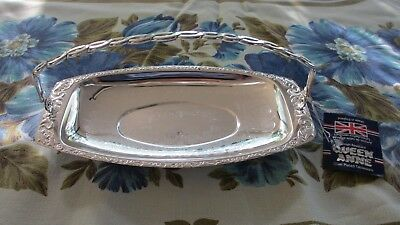 Vintage Silver Plated Serving Cake Tray Queen Anne England ,High Teas