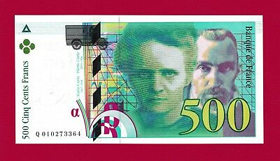 UNCIRCULATED 500 Francs 1994 France, Pick-160 + FREE BONUS - RARE  IN THIS GRADE