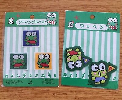 Keroppi Patches Vintage 1990s NEW
