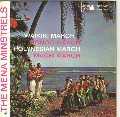 """7"" - THE MENA MINSTRELS - Waikiki March - RARE EP"
