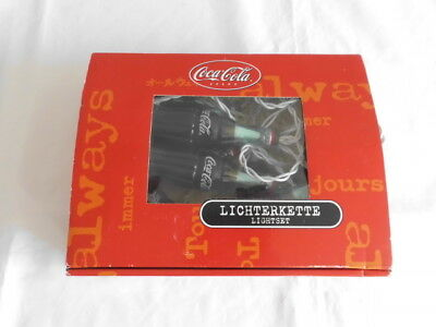 Coca Cola Lichterkette mit 10 Cola Flaschen in Original Box siehe Fotos