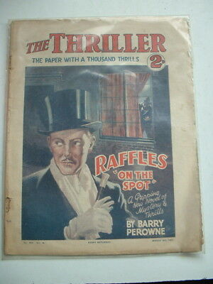 1933 Thriller Magazine `raffles On The Spot`