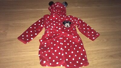 Disney Minnie Mouse dressing gown 12-18 months