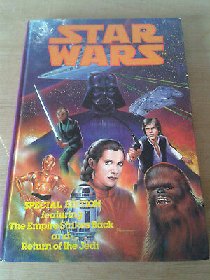 Vintage 1980s BHS Star Wars Book featuring ESB and ROTJ in Comic Format 1983