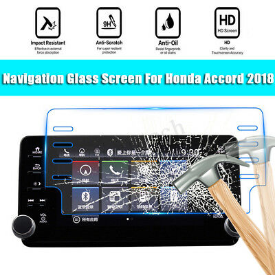 4 IN 1 9H HD Car Tempered Glass Screen Protector Film Fit For Honda Accord 2018