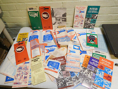 Lot of Vintage Amtrak Railroad Travel Time Tables Books Maps and More!