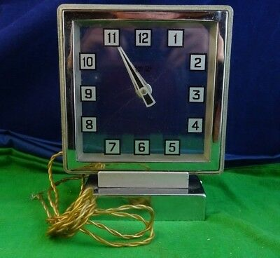 Spares & Repairs Vintage Art-Deco Electric Mystery Clock Square Glass Dial A11