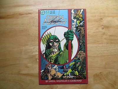 1988 Vintage Dc Comics Green Arrow # 4 Signed Mike Grell, With Poa