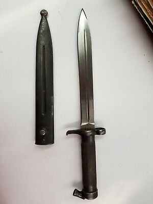 Vintage Swedish Mauser Bayonet With Sheath Ww2 Wwii 356 Crown Awesome Condition