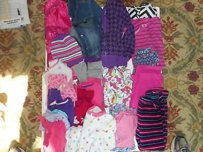 Lot of 21 Girl's Used Fall Winter Clothing size 7-8