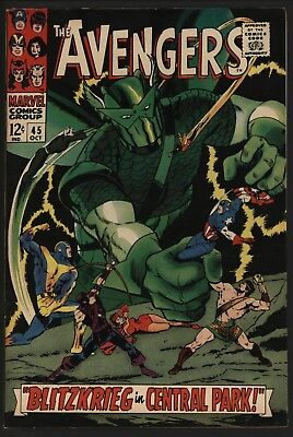 Avengers 45. Tight Structure. Glossy Cents. Vfn. Vs The Super-Adaptoid!