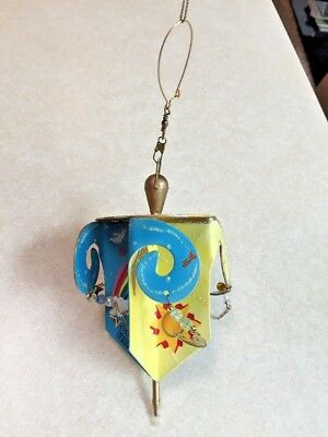 New w tag very colorful and whimsical dreidel by Rossi for Silvestri for hanging