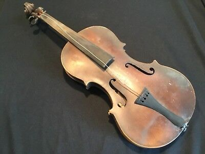 *NR* Antique American Violin Fiddle Signed Shenandoah PA for Restoration