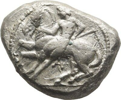 Lanz Greek Cilicia Kelenderis Goat Horse Youth Ethnic Ivy Stater Silver ±Tez2051