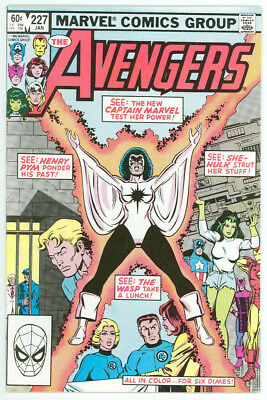 Avengers #227 Captain Marvel Monica Rambeau joins Avengers Marvel 1983 NM 9.4