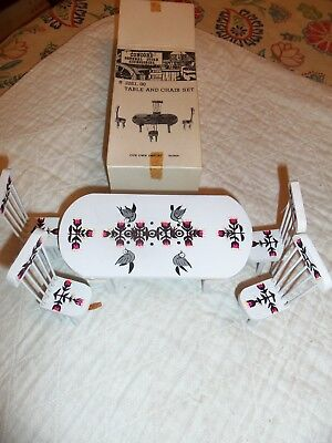 Vintage Concord Doll House Table & Chair Set   New Old Stock