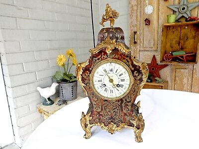 Antique Tiffany Ormolu Bronze Mounted Boulle 8-Day Mantel Clock,jed French Mvmt.
