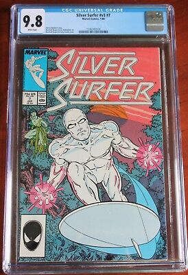 MARVEL COMICS #v3 #7 1988 SILVER SURFER CGC 9.8 WHITE PAGES