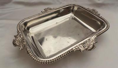 Stunning Georgian Old Sheffield Plate Silver Serving Dish ~ 'conch Shell' Border