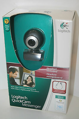"""""""logitech Quickcam Messenger"""" Webcam, Boxed With Software And Instructions, Vgc"""