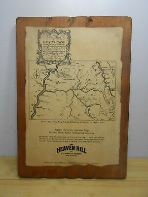 Vintage Heaven Hill Distilleries Bardstown Nelson Co, KY Bourbon Whiskey Map.