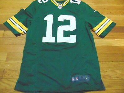 quality design 8e019 11f26 NIKE NFL ON Field Green Bay Packers Aaron Rodgers Jersey Size S
