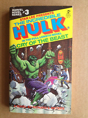 Marvel Novel Series # 3 - Incredible Hulk-Cry Of The Beast ( 1978 )