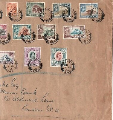 Cyprus - 1955 - Qe Ii - Complete Set - Registered First Day Cover - Nicosia Cds