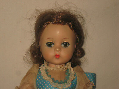 "1959 Madame Alexander 11.5"" HP Lissy Face Little Women's Beth Doll  MG6"
