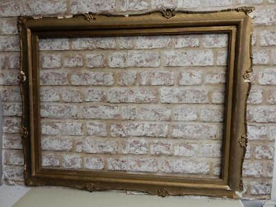 """old picture frame LARGE antique fits a 29"""" X  22 INCH painting"""