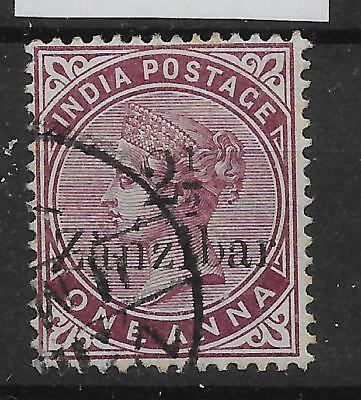 ZANZIBAR SG23 1896 2½a ON 1a PLUM USED