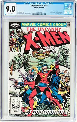 X-Men #156, 1982 CGC VF/NM 9.0, White Pages, Enter The Starjammers!