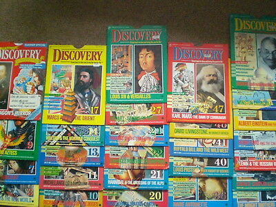 Marshall Cavendish Discovery covers & unused activity sheets/posters. NO MAGS.