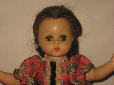 "1958 Madame Alexander 11.5"" HP Lissy Face Little Women's Marme Doll  MG11"