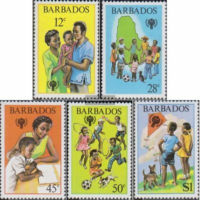 barbados 489-493 (complete issue) unmounted mint / never hinged 1979 kinder year