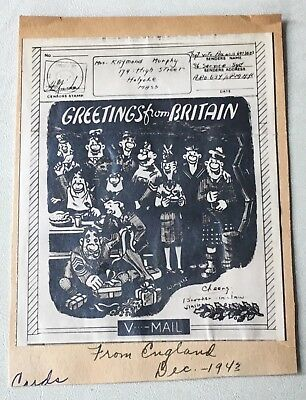 "V-Mail  ""Greetings from Britain "" 1943"