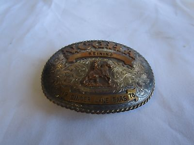 925 Sterling Silver Carlos Silver NCOHA Belt Buckle from Roseville, CA (140)