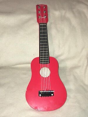 John Lewis Child's Red Wooden Mini Guitar