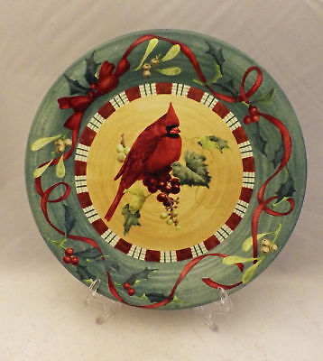 "Lenox Winter Greetings Everyday ""Cardinal"" pattern - one Dinner plate - 10 5/8"""